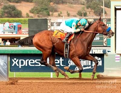 American Pharoah Race Horse Triple Crown Winner Art Print by Anthony Morretta