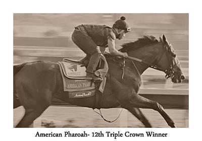 American Pharoah Art Print by See My  Photos