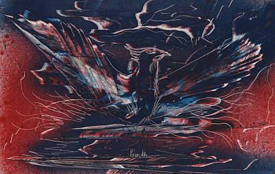 Painting - American Phoenix Rising by Jason Girard