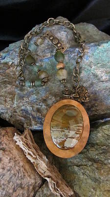 Jewelry - American Picture Stone #d181 by Barbara Prestridge