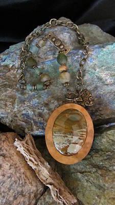 Jewelry - American Picture Stone #d181 by Barbara Prestridge