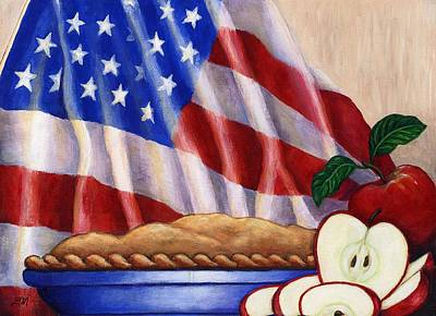 Apple Painting - American Pie by Linda Mears