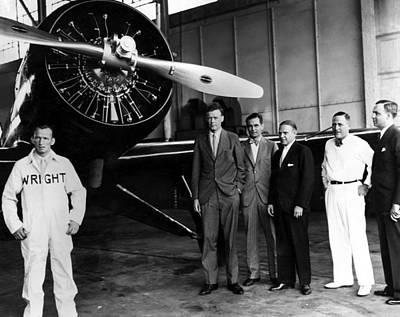 Ev-in Photograph - American Pilot Charles Lindbergh by Everett