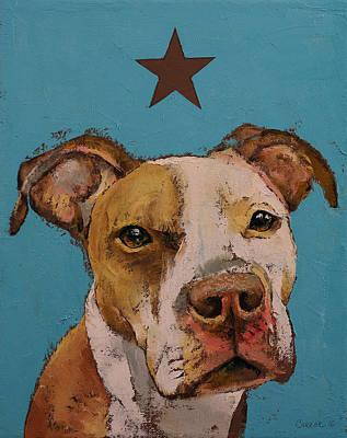 Pitbull Painting - American Pit Bull by Michael Creese