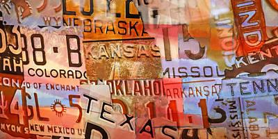 Painting - American Plates by Lutz Baar