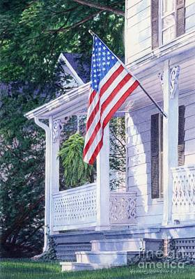 Painting - American Porch by Gloria Johnson