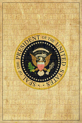 American Presidents Art Print