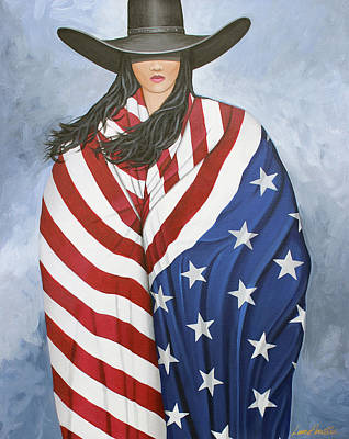 Painting - American Pride 1 by Lance Headlee