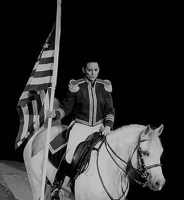 American Pride Horse Print by Vijay Sharon Govender
