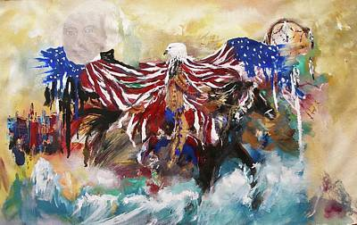 Painting - American Pride by Miroslaw  Chelchowski