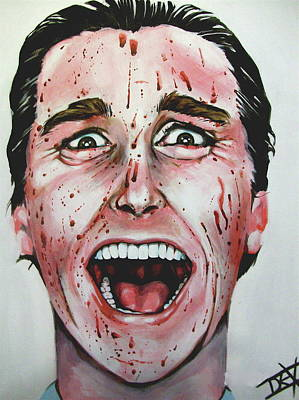 Bales Painting - American Psycho by Danielle LegacyArts