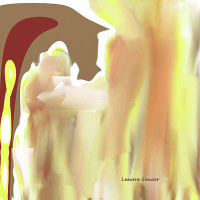 Abstract Horses Mixed Media - American Quarter Horse by Lenore Senior