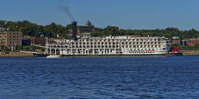Photograph - American Queen At Alton Il Dsc06333 by Greg Kluempers
