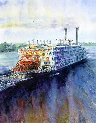 Painting - American Queen by John D Benson