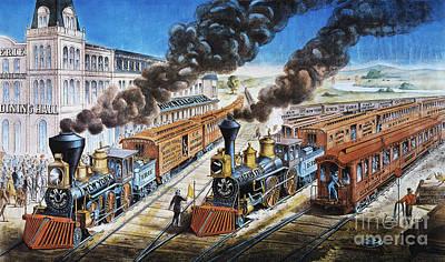 Photograph - American Railway, 1876 by Granger