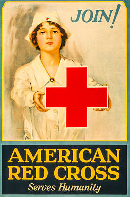Photograph - American Red Cross Nurse by David Letts