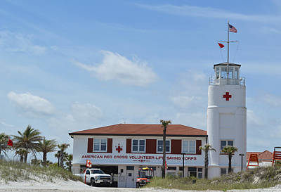 Photograph - American Red Cross Volunteer Life Saving Corps Building Jacksonville Beach by rd Erickson