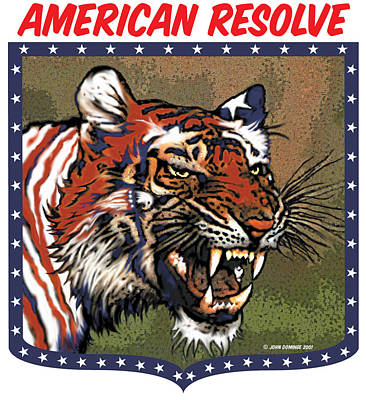 American Resolve Art Print by John A Dominge
