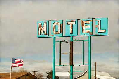 Photograph - American Retro Motel Sign by James BO Insogna