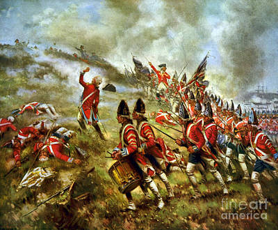 Redcoat Photograph - American Revolution, Battle Of Bunker by Science Source