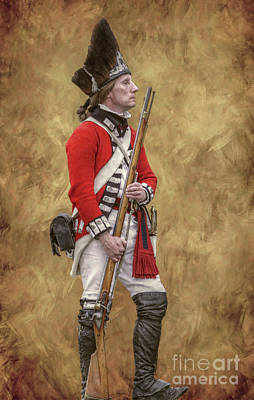 Redcoat Digital Art - American Revolution British Soldier II by Randy Steele