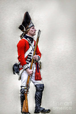 Redcoat Digital Art - American Revolution British Soldier  by Randy Steele