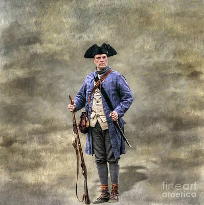 American Revolution Colonial Militia Soldier Art Print by Randy Steele