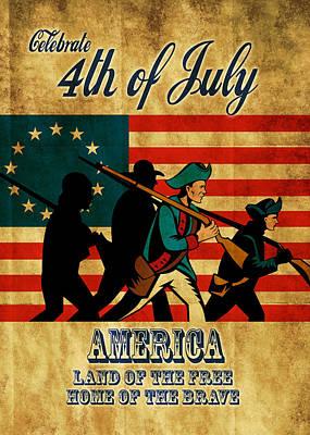 American Revolution Soldier Vintage Print by Aloysius Patrimonio