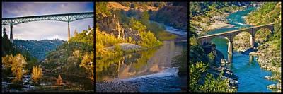 Photograph - American River Triptych 2 by Sherri Meyer