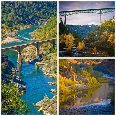 Photograph - American River Triptych 3 by Sherri Meyer