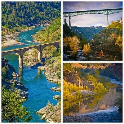 Photograph - American River Triptych 3 by Sherri Meyer
