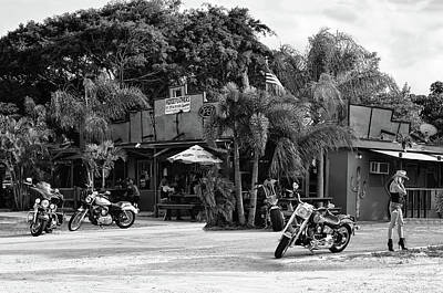 Photograph - American Roadhouse Bw by Laura Fasulo