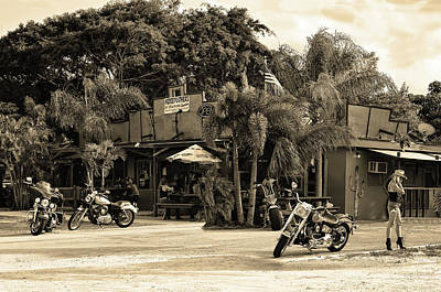 Photograph - American Roadhouse Sepia by Laura Fasulo