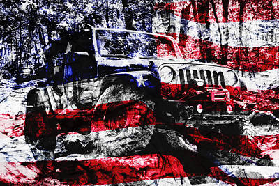 American Flag Photograph - American Rock Crawler by Luke Moore