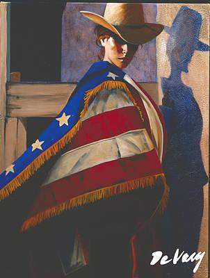 Scottsdale Western Painting - American Rose by David DeVary