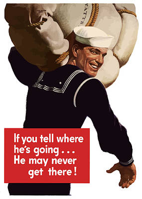 Landmarks Royalty Free Images - American Sailor -- WW2 Propaganda Royalty-Free Image by War Is Hell Store
