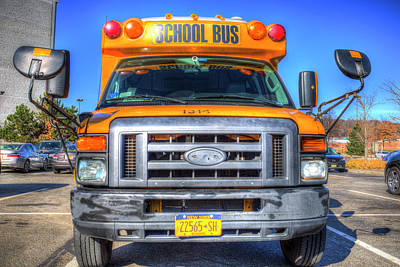 Photograph - American School Bus New York by David Pyatt