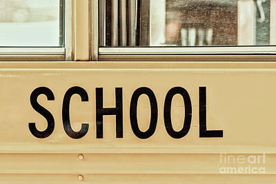 Bus Photograph - American School Bus Sign by Radu Bercan