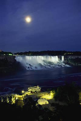 American Side Of Niagara Falls, Seen Print by Richard Nowitz