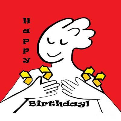 American Sign Language Happy Birthday Art Print by Eloise Schneider