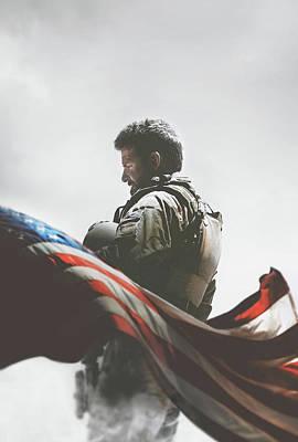 Sniper Digital Art - American Sniper 2014 by Caio Caldas