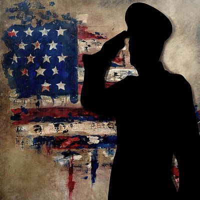 Abstract Music Drawing - American Soldier by Tom Fedro - Fidostudio
