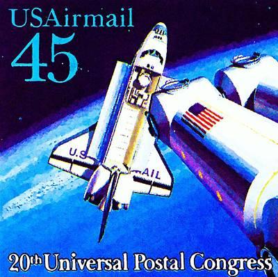Jetpack Painting - American Spacecraft by Lanjee Chee
