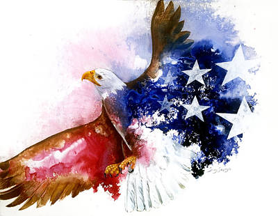 American Spirit Art Print by Sherry Shipley