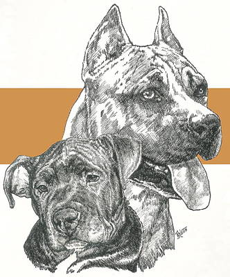 Mixed Media - American Staffie by Barbara Keith