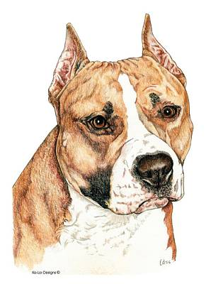 American Staffordshire Terrier Art Print by Kathleen Sepulveda
