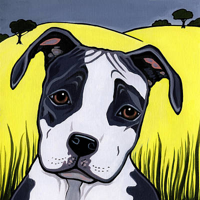 Painting - American Staffy by Leanne Wilkes