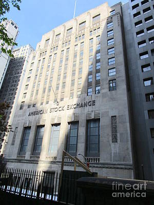 Photograph - American Stock Exchange by Randall Weidner
