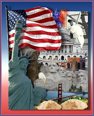 Independence Day Mixed Media - American Symbolicism by Gravityx9  Designs
