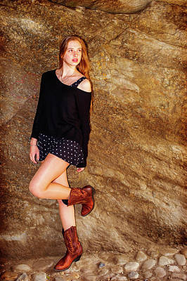 Photograph - American Teenage Girl Casual Fashion In New York by Alexander Image